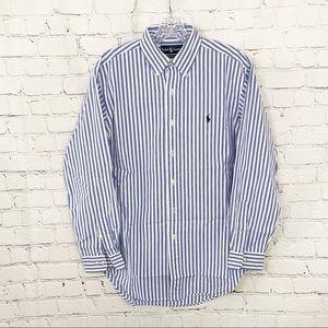 Ralph Lauren Blue and White striped Dress Shirt